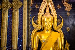 Phra Phuttha Chinnarat, Thai ancient heritage and considered as one of the most beautiful Buddha figure in Thailand, placed at Wat. Phra Si Rattana Mahathat stock photos