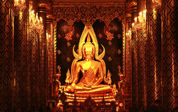 Phra Phuttha Chinnarat Royalty Free Stock Photography