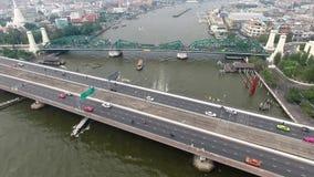 Phra Phuttha Yodfa Bridge stock footage