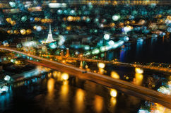 Phra Phuttha Yodfa Bridge view of Bangkok Royalty Free Stock Images