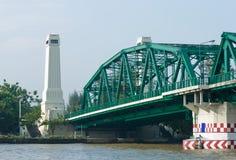Phra Pok Klao Bridge in Bangkok Stock Photos