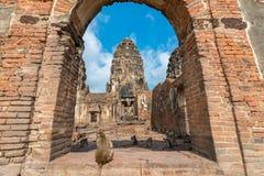 Phra Prang山姆Yot 免版税图库摄影