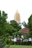 Phra prang. The 36-meter-high Phra Prang (Pagoda) constructed using the early Ayuthaya style to enshrined the relic of the Lord Buddha.Wat Phra Si Rattana Stock Images