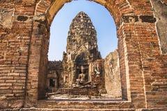 Phra Prang Sam Yod, Lopburi, Thailand arkivbild