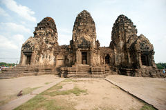 Phra Prang Sam Yod tempel, Thailand Arkivfoto