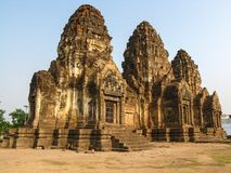 Phra Prang Sam Yod temple. The historical region of thailand Stock Image