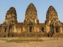 Phra Prang Sam Yod temple. The historical region of thailand Royalty Free Stock Images