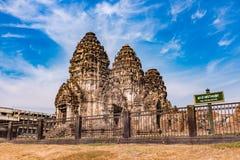 Phra Prang Sam Yod/templo antigo Fotografia de Stock Royalty Free