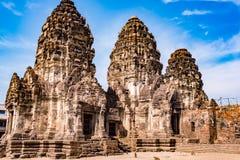 Phra Prang Sam Yod/templo antigo Imagens de Stock Royalty Free