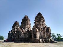 Phra Prang Sam Yod, templo do macaco Imagem de Stock