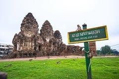 Phra Prang Sam Yot fotografia de stock