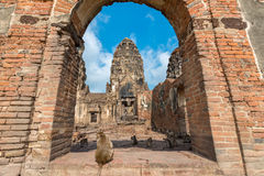 Phra Prang Sam Yot. Ancient remains Lop Buri thailand Royalty Free Stock Photography