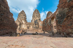 Phra Prang Sam Yot. Ancient remains Lop Buri thailand Stock Photo
