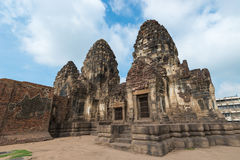 Phra Prang Sam Yot. Ancient remains Lop Buri thailand Stock Image