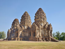 Phra Prang Sam Yot with blue sky Stock Image