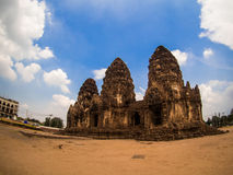 Phra Prang Sam Yot, the Khmer temple in Lopburi, Thailand Royalty Free Stock Images