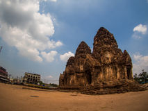 Phra Prang Sam Yot, the Khmer temple in Lopburi, Thailand Royalty Free Stock Image