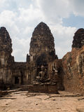 Phra Prang Sam Yot, the Khmer temple in Lopburi, Thailand Royalty Free Stock Photos