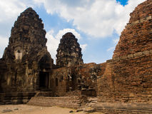 Phra Prang Sam Yot, the Khmer temple in Lopburi, Thailand Royalty Free Stock Photo