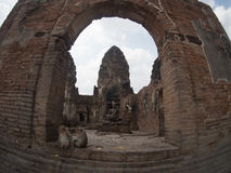 Phra Prang Sam Yot, the Khmer temple in Lopburi, Thailand Stock Photography