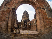 Phra Prang Sam Yot, the Khmer temple in Lopburi, Thailand Stock Photos