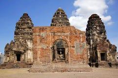 Phra Prang Sam Yot. In Lopburi Thailand,historical building of the Ayutthaya Royalty Free Stock Photos