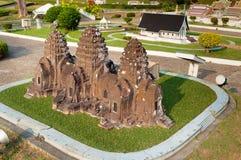Phra Prang Sam Yot in Mini Siam Park Royalty Free Stock Images