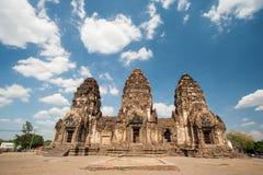Phra Prang Sam Yot Public Foto de archivo libre de regalías