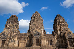 Phra Prang Sam Yot temple, architecture in Lopburi, Thailand Royalty Free Stock Photo