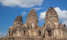 Phra Prang Sam Yot temple, architecture in Lopburi, Thailand Royalty Free Stock Photography