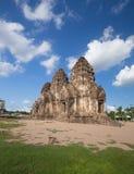 Phra Prang Sam Yot temple, architecture in Lopburi, Thailand Stock Image