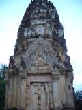 Phra prang-shaped pagoda architecture Stock Photos