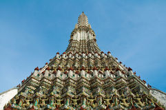 Phra Prang van de tempel van Wat Arun Royalty-vrije Stock Fotografie