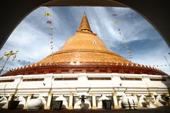 PHRA PRATHOM JEDI, The biggest Pagoda of Thailand. Royalty Free Stock Image