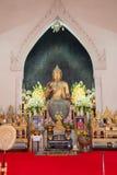 Phra Putharoop Srirakhwan på Phra Phathomchedi i Thailand Royaltyfri Fotografi