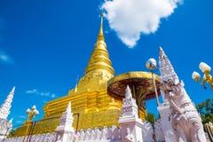 Phra que Chae Haeng Temple é um destino favorito fotografia de stock royalty free