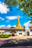 Phra que Chae Haeng Temple é um destino favorito na província de Nan imagens de stock royalty free