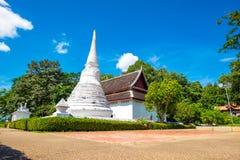 Phra que Chae Haeng Temple é um destino favorito na província de Nan fotografia de stock