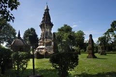 Phra que Kong Khao Noi é um stupa ou um Chedi antigo em Yasothon, Tailândia fotos de stock royalty free