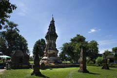 Phra que Kong Khao NOI est un stupa ou un Chedi antique dans Yasothon, Thaïlande image stock