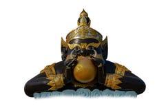 Phra Rahu em Tailândia, Rahu o mítico da escuridão no fundo branco isolado fotografia de stock