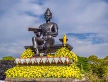 Phra Ram Ramkhamhaeng el gran monumento en el parque histórico Tailandia de Sukhothai foto de archivo