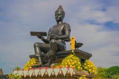 Phra Ram Ramkhamhaeng el gran monumento en el parque histórico Tailandia de Sukhothai foto de archivo libre de regalías