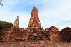 Phra Ram Temple (Wat Phra Ram) fördärvar i landskap av Ayutthaya, Thailand Royaltyfria Foton