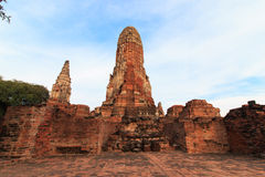 Phra Ram Temple (Wat Phra Ram) ruins in province of Ayutthaya, Thailand Royalty Free Stock Photos