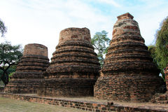 Phra Ram Temple (Wat Phra Ram) ruins in province of Ayutthaya, Thailand Stock Photos