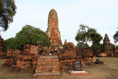 Phra Ram Temple (Wat Phra Ram) ruins in province of Ayutthaya, Thailand Stock Photo