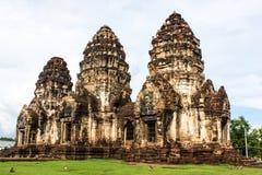 Phra Rozwala Sam Yot antyczną architekturę Tajlandia Obrazy Royalty Free