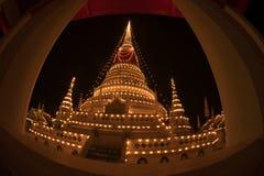 Phra Samut Chedi塔光在泰国 库存图片