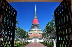 Phra Samut Chedi Fotografering för Bildbyråer